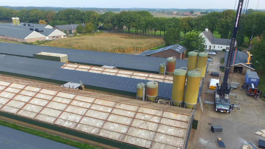 eindcontrole asbest door Flamant - grote bedrijfspanden en bedrijfsloodsen