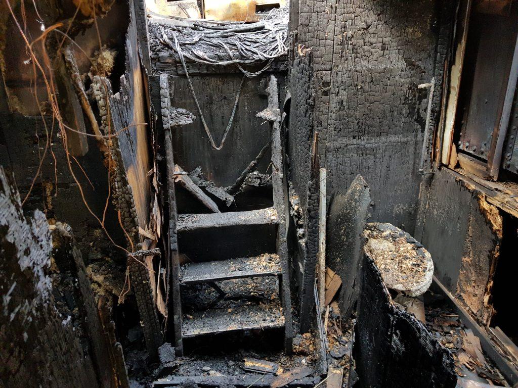 Bij calamiteit en spoed asbest inventarisatie en eindcontrole door Flamant - brand op schip